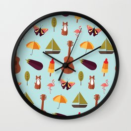 Happy mix Wall Clock