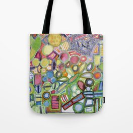 Cheerful Colorful Collection Tote Bag
