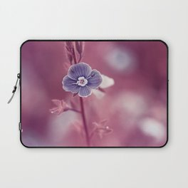 Forget-me-not Violet toned Flower Laptop Sleeve