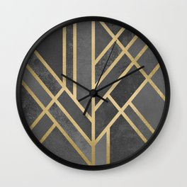 Art Deco Geometry 1 Wall Clock