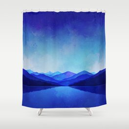 Midnight Blue Shower Curtain