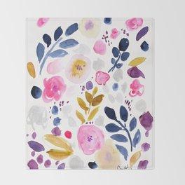 Pink Affair Floral Throw Blanket