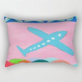 Fly Blue Rectangular Pillow