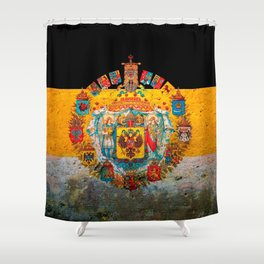 Russian Empire Flag Shower Curtain