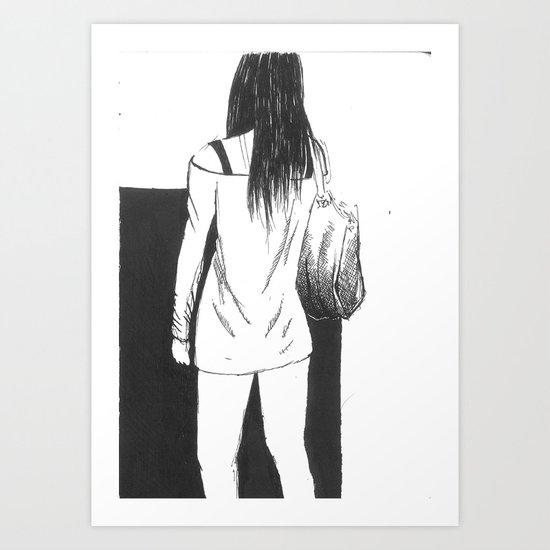 bag girl Art Print