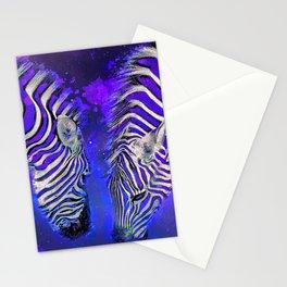 Night Sky Zebra Ultra Violet Stationery Cards