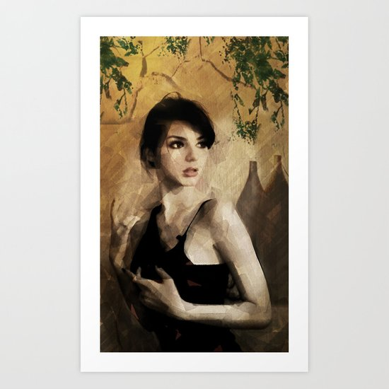 Losing August - Portrait Art Print
