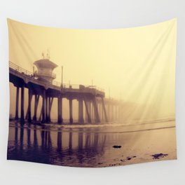Huntington Beach Pier Wall Tapestry