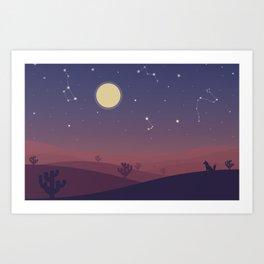 A night in Atacama Art Print