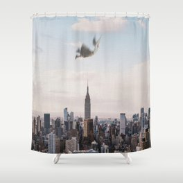 Falling-New York City Skyline Shower Curtain
