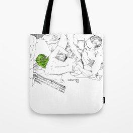 Green hair in ménage à trois Tote Bag