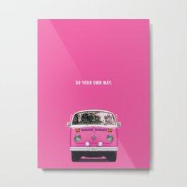 Pink way Metal Print