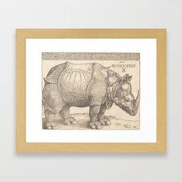 Albrecht Durer - The Rhinoceros, 1515 Gerahmter Kunstdruck