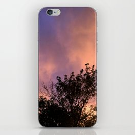 the skeleton of sunsets iPhone Skin