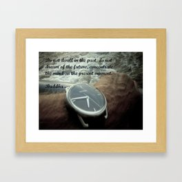 Time: Buddha Quote Framed Art Print