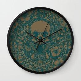 Blue Skull in jungle Wall Clock