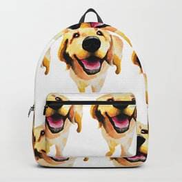 Good Boy / Yellow Labrador Retriever dog art Backpack