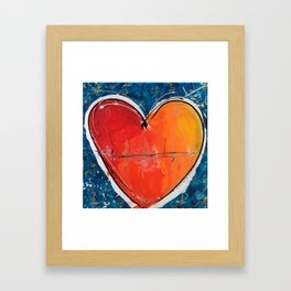 Go with you heart Framed Art Print