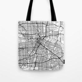 Houston Map White Tote Bag