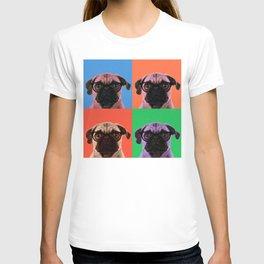 Geek Pug in 4 Colors T-shirt