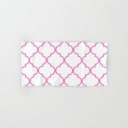 Quatrefoil - Bubblegum Hand & Bath Towel