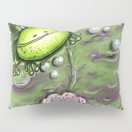 Frog Prince on His Lily Pad Pillow Sham