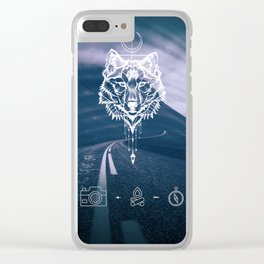 Never give up! Clear iPhone Case