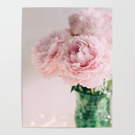 Blush Peonies Poster
