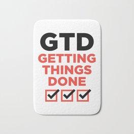 GTD : GETTING THINGS DONE Bath Mat
