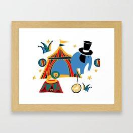 Circus Fun white Framed Art Print