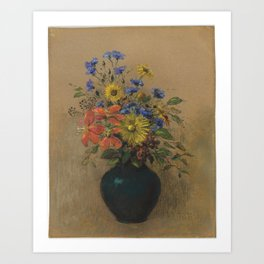Odilon Redon - Wildflowers Art Print