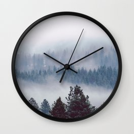 Blue Mountain Mist - Nature Photography Wall Clock