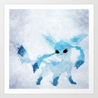 ice Art Prints featuring Ice by Melissa Smith