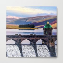 Medieval Dam of the Elan Valley of Wales Metal Print