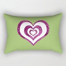 Pink glitter heart design Rectangular Pillow