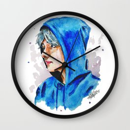 Taehyung watercolor BTS Wall Clock