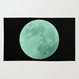 TEAL MOON // BLACK SKY Rug
