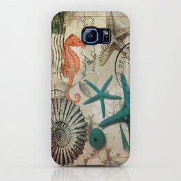 modern elegant seashells beach decor art iPhone Case
