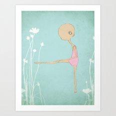 Secret dance studio Art Print