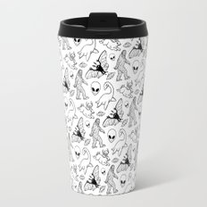 Cryptid Pattern: Ink Lines Travel Mug
