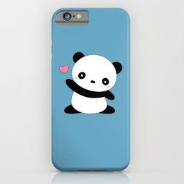 Kawaii Cute Panda Bear iPhone Case