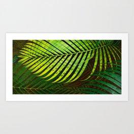 TROPICAL GREENERY LEAVES no3 Art Print