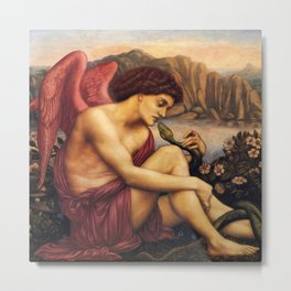 """Evelyn De Morgan """"The angel with the serpent"""" Metal Print"""