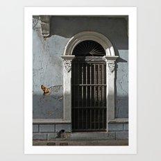 Old Town Doorway Art Print