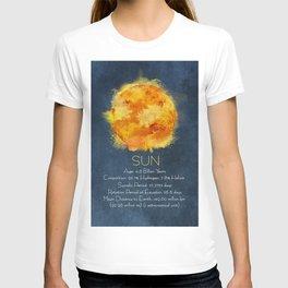 Sun info poster T-shirt