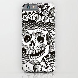 Calavera Catrina | Skeleton Woman | Black and White | iPhone Case