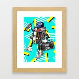 I Am The 80s Retro Design Framed Art Print