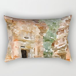 Cambodian Temple near Siem Reap Rectangular Pillow