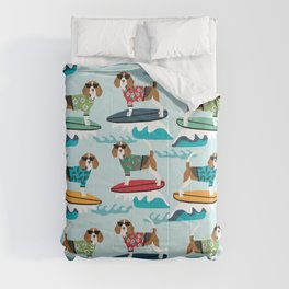 Beagle surfing pattern cute pet gifts dog lovers beagles Comforters