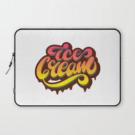 Ice cream lettering design Laptop Sleeve